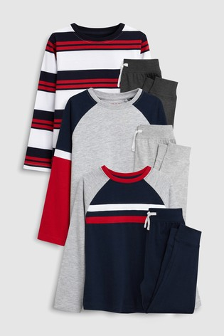 Buy Stripe Pyjamas Three Pack (3-16yrs) from Next Ireland 16e7e6989