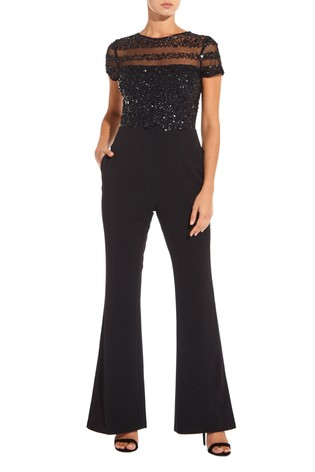 From Next Buy Crepe Jumpsuit Adrianna Papell Black Belgium wpxqq7BR