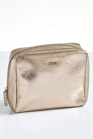 Buy Gold Make Up Bag from the Next UK online shop