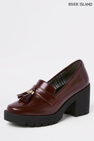 5d9531e96f1 Buy River Island Red Heeled Chunky Loafer from Next Ireland