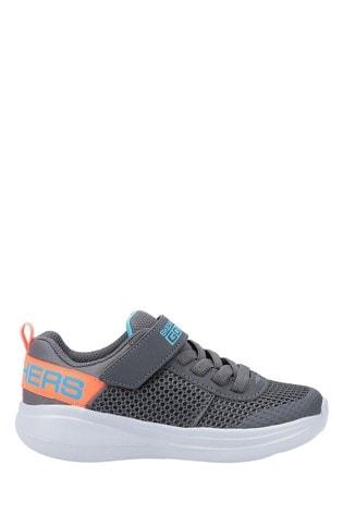 grey velcro trainers