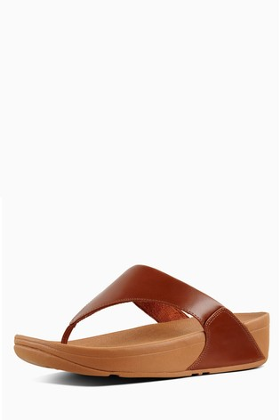 308f730dc Buy FitFlop™ Caramel Lulu Leather Toe Post Sandal from Next Kuwait