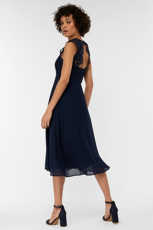 af5a124fabb Buy Monsoon Navy Morgane Lace Short Dress from Next Austria