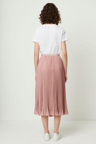 692892852 Buy French Connection Pink Crepe Light Pleated Midi Skirt from the ...