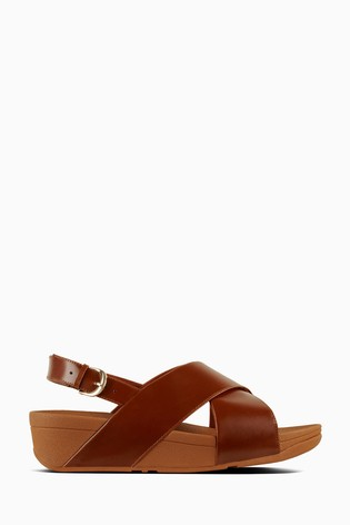 hot sales shoes for cheap sale retailer FitFlop™ Leather Lulu Cross Back Strap Sandal