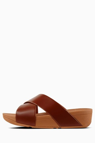 c4fe0e5a2b521e Buy FitFlop™ Leather Lulu Cross Slide Sandal from Next Spain