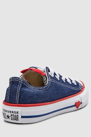 e44769afefe9 Buy Converse Youth Heart Chuck Taylor All Star Ox from the Next UK ...