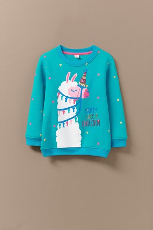 Buy Crew Clothing Blue Crew Neck Llama Sweatshirt From The Next Uk Online Shop