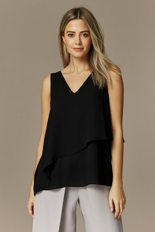retail prices great quality on feet images of Buy Wallis Petite Black Double Layer Cami from the Next UK online shop