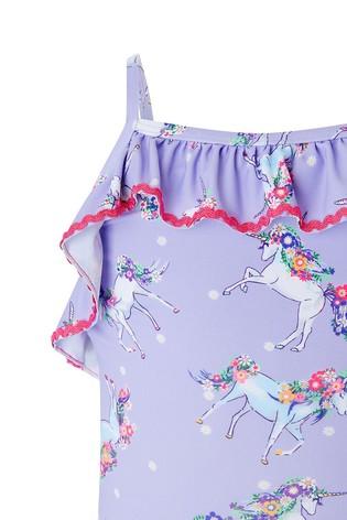 3ca93f81f3 Buy Monsoon Lilac Rebel Unicorn Swimsuit from Next Bahrain