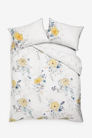 Watercolour Floral Tencel Blend Duvet Cover And Pillowcase Set