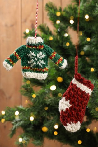 Traditional Christmas Tree.Hand Knitted Christmas Tree Decorations By Dibor
