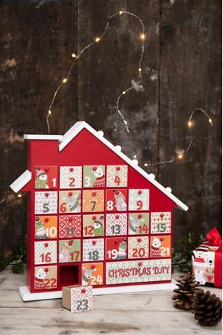 Christmas Advent House.Lit Advent House