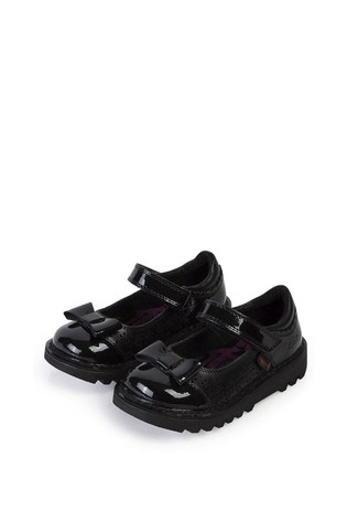 Buy Kickers® Black Patent Bow Shoes