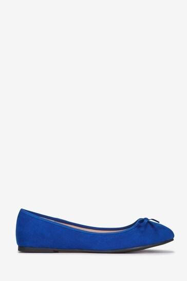 hot product elegant shoes marketable Evans Blue Extra Wide Fit Basic Ballet Pumps