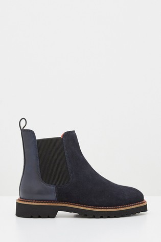 Buy White Stuff Navy Alpine Ankle Boots