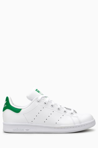 fe9c6f4cc3a3c Buy adidas Originals White/Green Stan Smith Youth from the Next UK ...