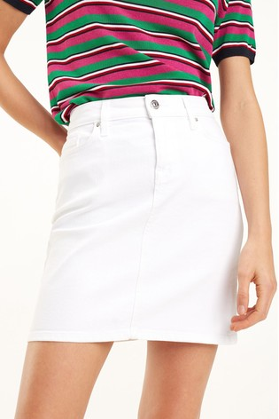 prevalent incredible prices 2020 Tommy Hilfiger Rome White Denim Skirt