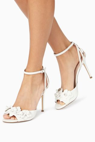 4b2cf3661ae6 Buy Leather Flower Bridal Sandals from Next Germany