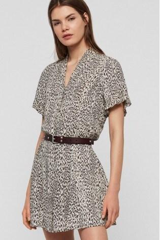 check out 55fc3 915c1 AllSaints Leopard Fay Shirt Dress