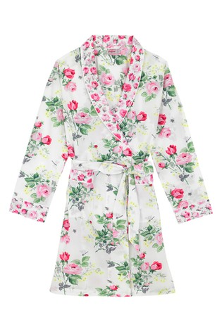Buy Cath Kidston® White Belsize Bouquet Dressing Gown from the Next ...