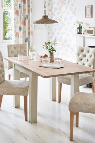 Next UK & Malvern 4-6 Seater Square To Rectangle Dining Table