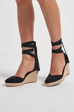 Buy Ankle Tie Espadrille Wedges from