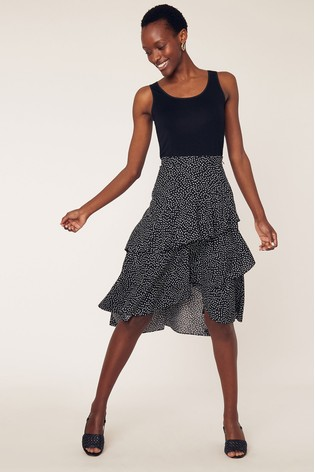 8d95a5ab27 Buy Oasis Black Lilly Spot Ruffle Skirt from the Next UK online shop