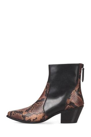 Buy Oliver Bonas Snake Panelled Leather