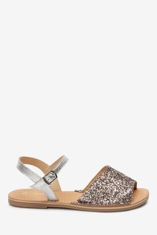 glitter peep toe sandals