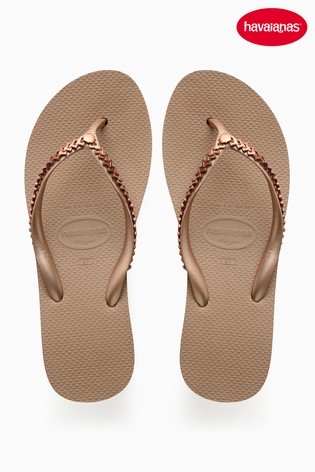 228552f2a1d Buy Havaianas® Rose Gold High Metal Grega Wedge from Next Netherlands