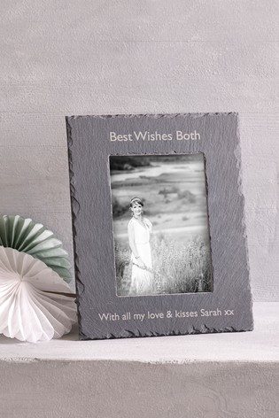 Buy Personalised Slate Photo Frame By Loveabode From The Next Uk Online Shop