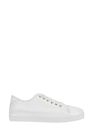 Buy F\u0026F White Canvas Lace-Up Shoes from