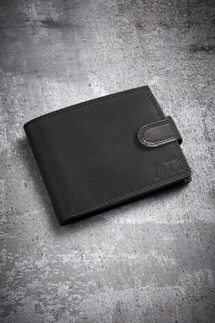 Personalised Black Initials Wallet