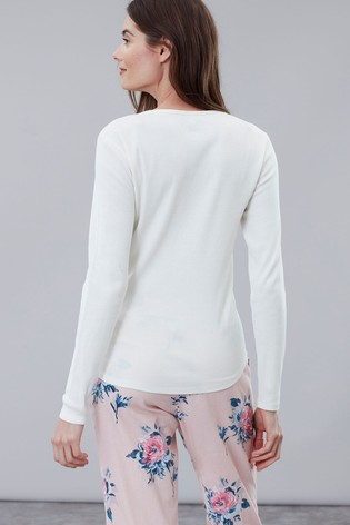 d3237ae5ad Buy Joules Cream Cici Long Sleeved Ribbed Jersey Top from Next Ireland