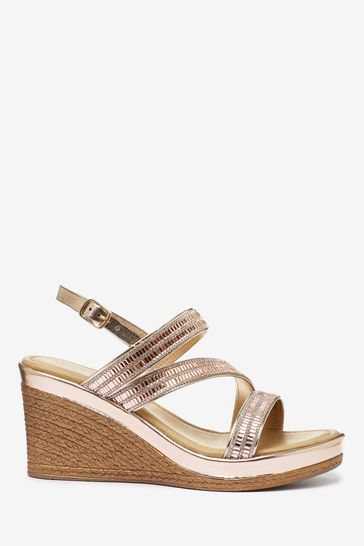 Buy Asymmetric Sparkly Wedges from the