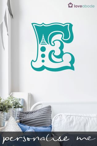buy personalised alphabet wall sticker by loveabode from the next uk