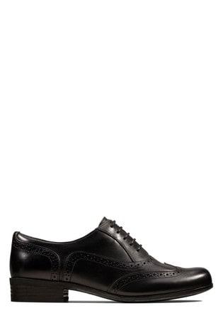 Buy Clarks Black Hamble Oak Shoe from