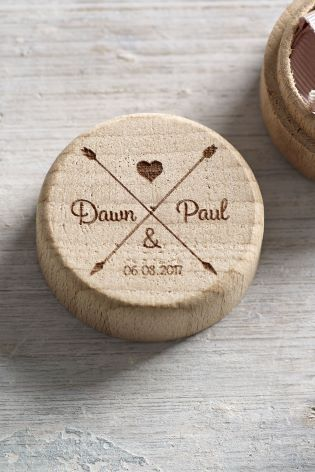 Wedding Ring Box.Personalised Wooden Wedding Ring Box By Loveabode