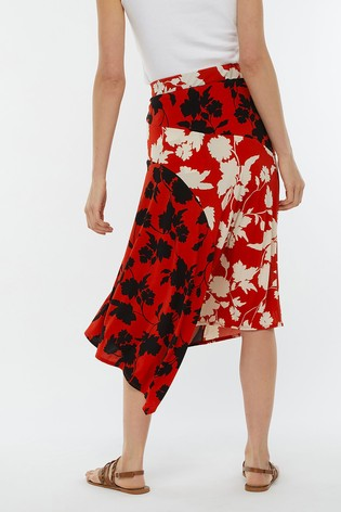 4ca8a5277a0474 Buy Monsoon Ladies Red Penelope Print Midi Skirt from the Next UK ...