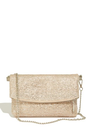 autumn shoes best online classic style Oasis Gold Straw Clutch Bag