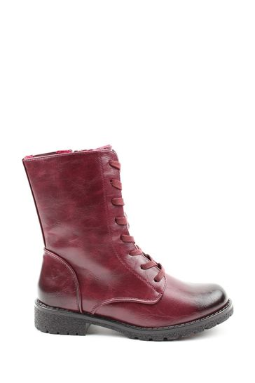 Buy Heavenly Feet Red Ladies Lace-Up