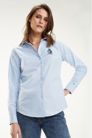 new arrivals best selling aliexpress Tommy Hilfiger Crest Fitted Shirt