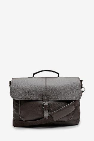 c94944b280b3 Brown Signature Made In Italy Leather Briefcase