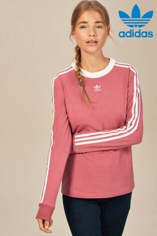 d128a58c27d Buy adidas Originals 3 Stripe Long Sleeve Tee from Next USA