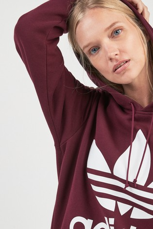 c407e4e9 Buy adidas Originals Maroon Boyfriend Trefoil Hoody from the Next UK ...