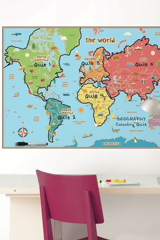 Uk In Map Of World.Wall Pops Kids World Map Wall Sticker