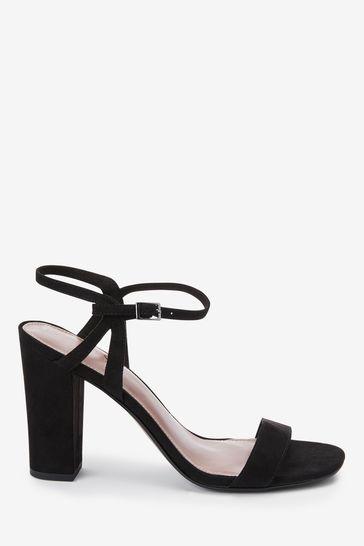 979faaef85b Black Block Heel Delicate Sandals