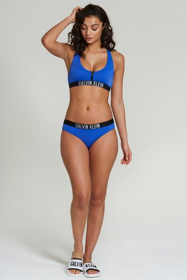 209e5bb5ec4 Buy Calvin Klein Blue Swim Zip Bralette from the Next UK online shop