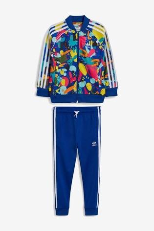 designer fashion united kingdom good out x adidas Originals Little Kids Graphic Superstar Tracksuit
